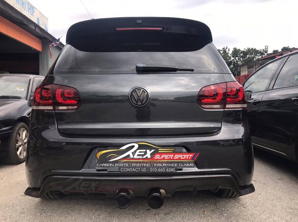 Golf Mk6 Gti R Revozport Big Spoiler Rexsupersport