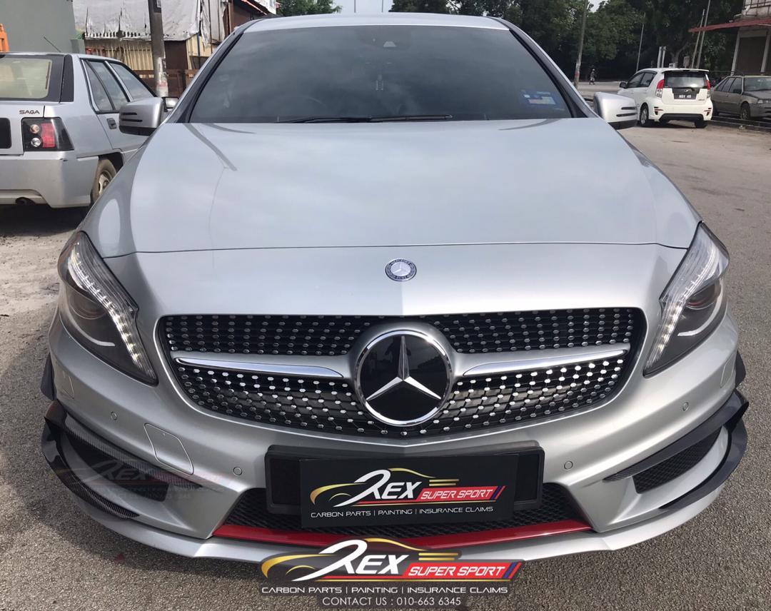 Mercedes A-CLASS W176 Front Revozport Canard