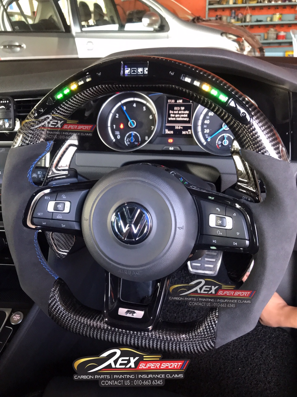 Vw Performance Led Digital Carbon Fiber Steering Rexsupersport Specializes In Providing Carbon Fibre Parts And Accessories